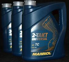 3x4 Liter Mannol 2-Takt Universal Motorradöl Mischöl mineralisch  API TC Motoröl