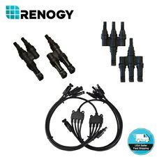 Renogy One Pair Solar Panel Connector Parallel Branch Connectors Solar Panel