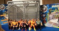 WWE WWF Ring Rage in the Cage Lot with 9 Figures Hasbro, Galoob and More