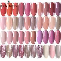 BORN PRETTY Nail Art UV Gel Polish Series Top Base Coat Gel Nails Rose Gold Tips