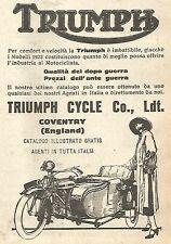 Y2966 Moto Triumph con Sidecar - Pubblicità del 1923 - Old advert