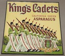 King's Cadets California Asparagus Crate Label F.S. & F.E. King in Clarksburg Ca