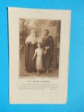 IMAGE PIEUSE SANTINO  SAINTE FAMILLE JOSEPH SACRA FAMILIA 1924 THFR