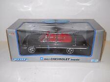 Welly 1:18 Diecast - 1963 Chevrolet Impala Convertible - Black MIB