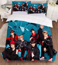 Ultra soft  Korean BTS Print Bedding Set Quilt Cover Pillow case 2PCS Twin