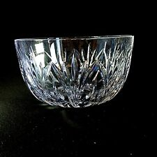 """1 (One) ATLANTIS LAKE GEORGE Heavy Cut Lead Crystal 8"""" Bowl Signed DISCONTINUED"""