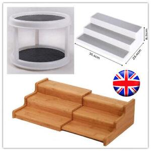 2/3 Tier Shelf Jar Racks Holder Cupboard Organiser Kitchen Storage 3Type UKStock