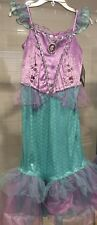 Disney Store Ariel The Little Mermaid Halloween Costume Dress Girls 9/10 NWT