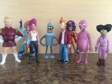 "9 Toynami Futurama 6"" Figures Lot Used + plus a bendable one"