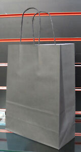 New Strong Paper Twisted Handle Carrier Patterned Colour Design Bags Pack of 50