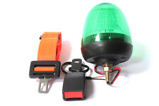 12-24V Green LED Safety Beacon Single Bolt and Wired Orange Hi Vis Seat Belt Kit