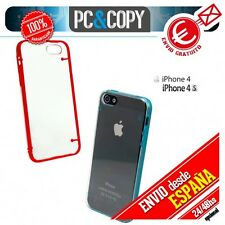 Funda hibrida policarbonato marco TPU colores para iphone 4 4S 5 5S 6 6S 6plus