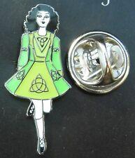 Irish Dancer Pin Badge Brooch Ireland Dancing Dance Celtic Knot