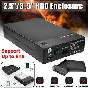 2.5 / 3.5 pulgadas SATA Externo USB 3.0 Disco duro Carcasa Caddy Case HDD Disco