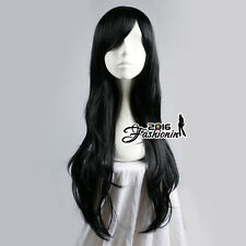 Adventure Time Marceline the Vampire Queen Black Women Anime Cosplay Wig