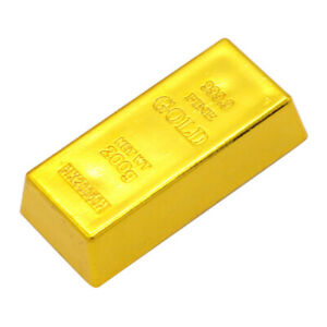 Fake Plastic Fine Gold Bar Bullion Magic Prop Party Table Ornament Toy Gifts