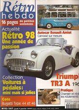 RETRO HEBDO 92 TRIUMPH TR3 A 1960 AUTOCAR RENAULT AMIOT 1955 VOITURES A PEDALES