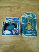 Teletubbies Vintage 1996 Noo Noo Push & Laa-laa Boxed Golden Bear Toy New Figure