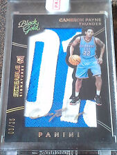 2015-16 BLACK GOLD CAMERON PAYNE  SIZEABLE SIGNATURES RPA -RC #03/25 SSP