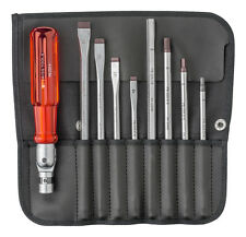 PB Swiss Tools PB 225 Screwdriver Set Slotted/Hex in Roll-Up Case 9-Piece
