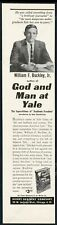 1978 William F Buckley photo God and Man at Yale book release vintage print ad