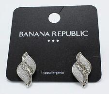 New Silver Tone Rhinestone Post Earrings from Banana Republic #BRE13