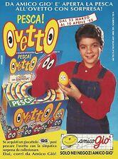 X2909 Amico giò - Pesca Ovetto - Pubblicità 1993 - Advertising