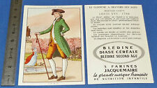 CHROMO 1950 GRANDE IMAGE BON-POINT BLEDINE COSTUME MASCULIN LOUIS XVI 1780