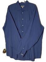 JOSEPH & FEISS L Sleeve Checkered Button Down Shirt XL Tall 100% Cotton Non Iron