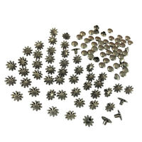30 Sets Flower Rivets Studs Rapid Rivets for DIY Leather Craft Repair 8mm