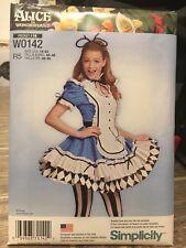 Simplicity Uncut Halloween Costume Disney Alice in Wonderland Pattern 14-22