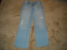 """lei Junior's Size 7 """"Ashley Trouble"""" Distressed Boot Cut Jeans EUC"""