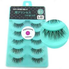 5 Pairs Half Corner Fake Eyelashes Reusable Daily Natural Look False Eyelashes