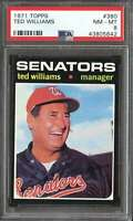 1971 TOPPS #380 TED WILLIAMS PSA 8 SENATORS MG HOF  *K4326