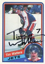 TIM WATTERS JETS AUTOGRAPH AUTO 84-85 O-PEE-CHEE OPC #350 *30200