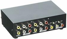 Duttek 4-Port AV Switch RCA Switcher 4 In 1 Out Composite Video L/R Audio