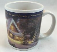 Vintage Collectible Genuine Thomas Kinkade Deer Creek Cottage Coffee Mug