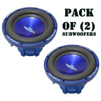"PAIR of New Pyle PLBW104 10"" 1000 Watt DVC Subwoofer Sub Car Stereo Audio"
