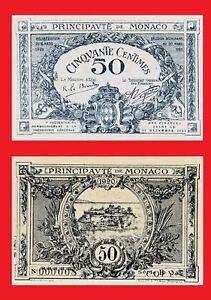Monaco 50 Centimes 1920.  UNC - Reproductions