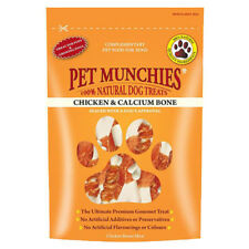 Pet Munchies 100%25 Natural Chicken & Calcium Bone Healthy Dog Food Treats 100g