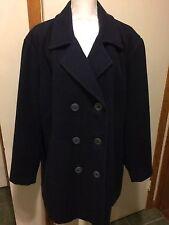 CENTIGRADE 2x Navy Blue Wool Coat