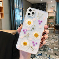 Ultra-thin Clear Real Dried Pressed Flowers TPU Case Cover For iPhone 11Pro MAX
