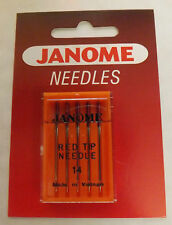 JANOME Sewing Machine RED TIP NEEDLES-SIZE 14/90- (PACK OF 5) -990314000-Genuine