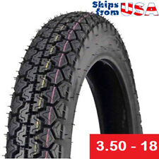 Tire 3.50 - 18 Motorcycle Scooter Moped Street Front/Rear Performance Tire