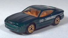 "Matchbox 1994 Aston Martin DB7 3"" 1:60 Green Metallic Gold Wheels Scale Model"