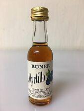 Mignon Miniature Roner Myrtillo Liquore Con Grappa 3cl 30% Vol