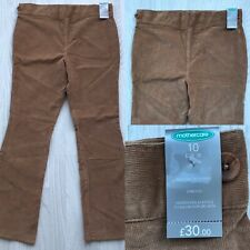BNWT MOTHERCARE MATERNITY STRETCH CORDUROY TROUSERS CAMEL UK 10 AC