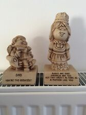 Two Vintage Collectable PAULA, ornament /  Figurines.  Mother and Dad .