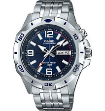 Casio Men's Silvertone Watch, Date, 100 Meter, Super Illuminator,  MTD1082D-2AV