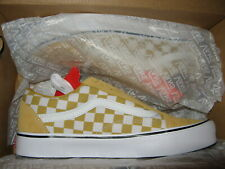 Vans Old Skool Lite Mens Skate Shoes Checker Checkerboard Ochre Pale Yellow 8